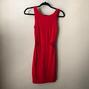 Zara Trafaluc red mini dress mesh sides S
